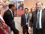 Commissioner Johannes Hahn visiti to projects' exhibition